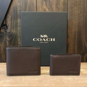NWT Authentic Coach Sport Calf 3in1 Wallet